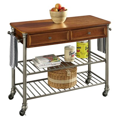home styles the orleans kitchen island home styles orleans kitchen island with wood top reviews wayfair 5748