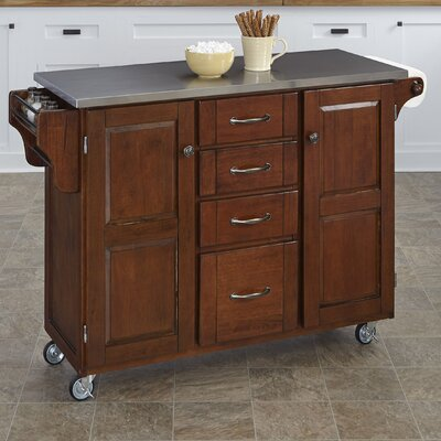 Create-a-Cart Kitchen Island with Stainless Steel Top Product Photo