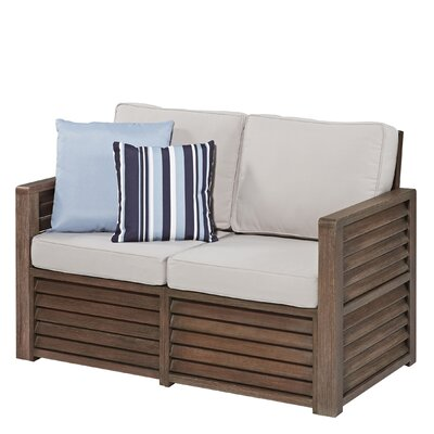 Barnside Deep Seating Loveseat with Cushions by Home Styles