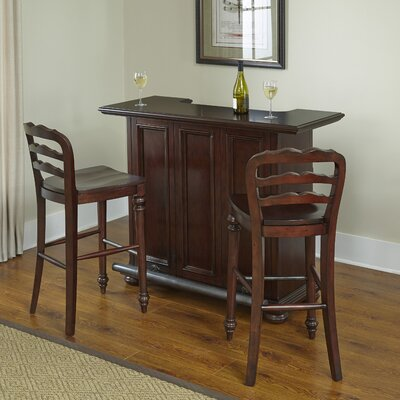 Colonial Classic Bar Set with Wine Storage by Home Styles