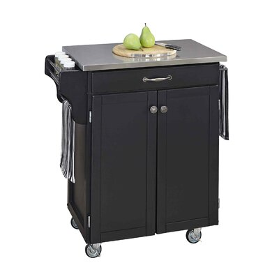 Home Styles Cuisine Kitchen Cart With Stainless Steel Top