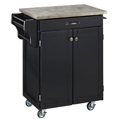 Cuisine Cart Kitchen Cart with Concrete Top Product Photo