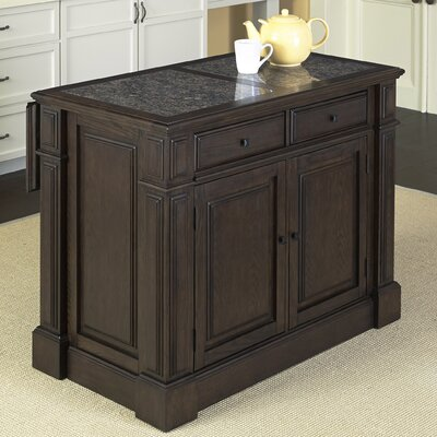 Prairie Home Kitchen Island with Granite Top Product Photo