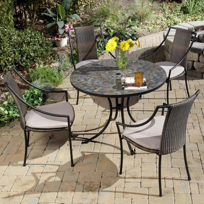 Stone Harbor 5 Piece Dining Set with Cushions by Home Styles