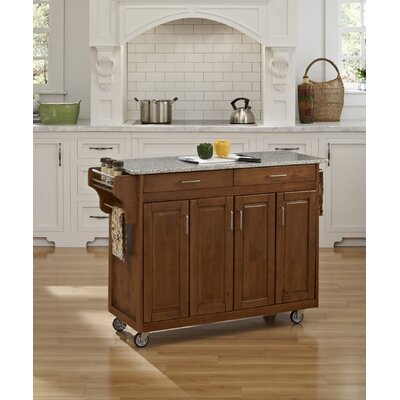 Create-a-Cart Kitchen Island with Granite Top Product Photo