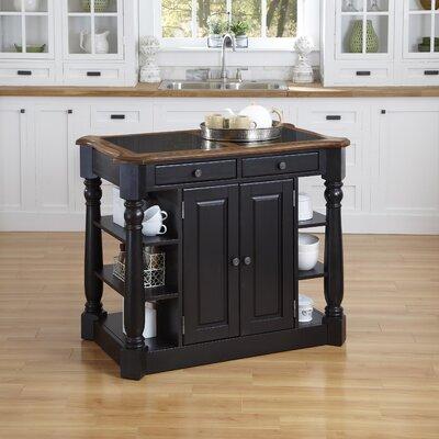 Americana Kitchen Island with Granite Top Product Photo