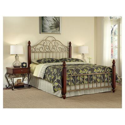 St. Ives Metal Panel Bed by Home Styles