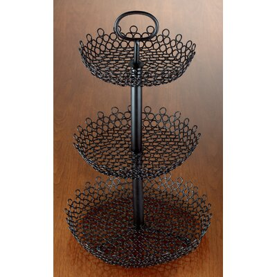 3 Tier Decorative Wire Fruit Basket by Kindwer