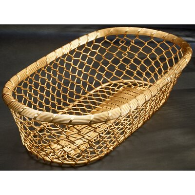 Gilded Chain-Link Metal Bread Basket by Kindwer