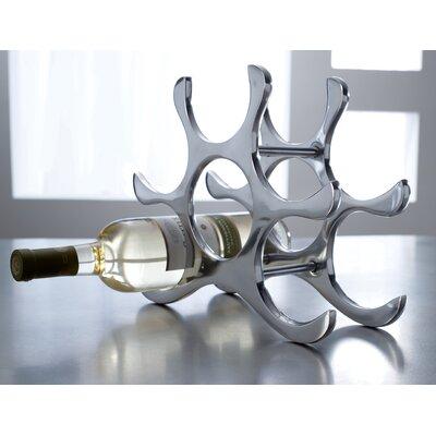 6 Bottle Polished Aluminum Wine Rack by Kindwer