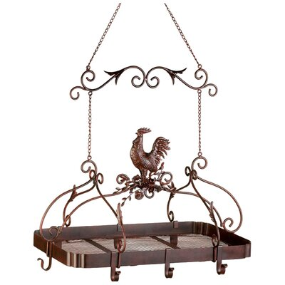 Rooster Hanging Pot Rack by Zingz & Thingz