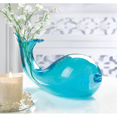 Art-Glass Whale Vase by Zingz & Thingz