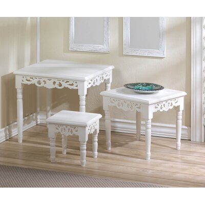 Cottage Chic 3 Piece Nesting Accent Tables by Zingz & Thingz
