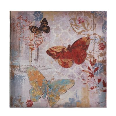 Flying Butterflies Painting Print on Canvas by Zingz & Thingz