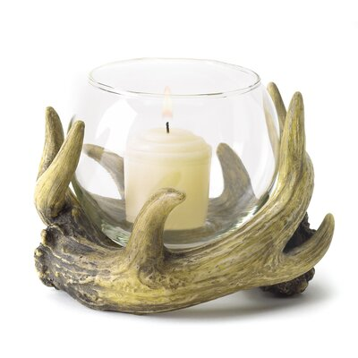 Zingz & Thingz Deer Horn Candle Holder