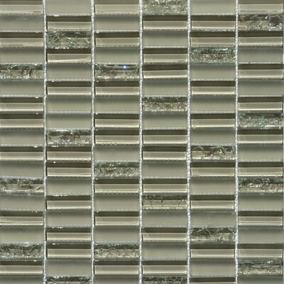 Jayda Series Mixed Crackled Glass Mosaic in Tan by Faber