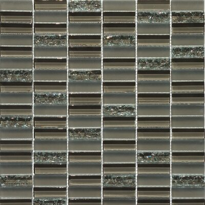 Jayda Series Mixed Crackled Glass Mosaic in Coffee by Faber