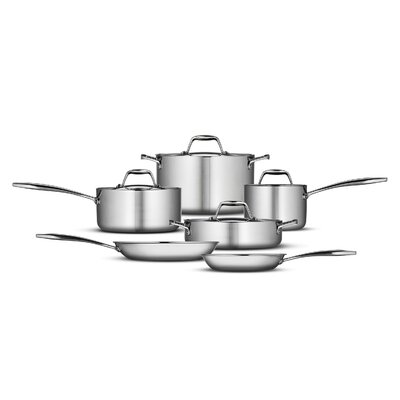 Gourmet 18/10 Stainless Steel Induction-Ready 10-Piece Cookware Set by Tramontina