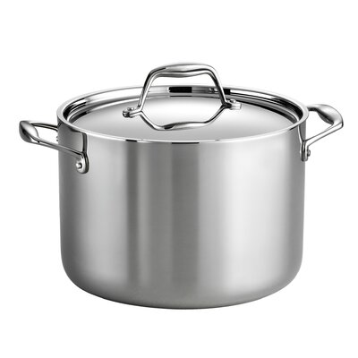Gourmet 8 Qt. Stock Pot with Lid by Tramontina