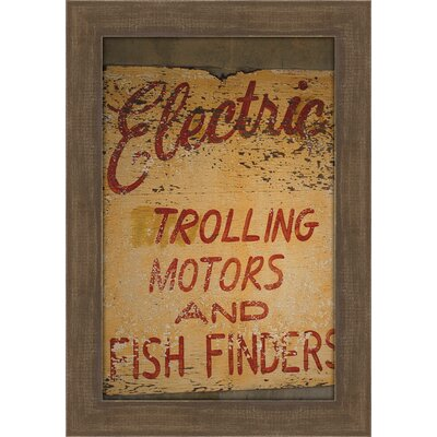 Electric by Christie Brace Framed Textual Art by Melissa Van Hise