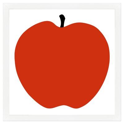 Red Apple Framed Painting Print by Melissa Van Hise