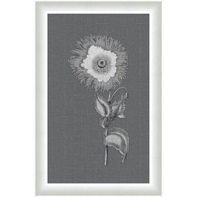 Melissa Van Hise Flora on Gray Linen ll Framed Graphic Art