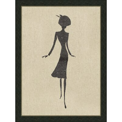 Ladies on Natural Linen lll Framed Graphic Art by Melissa Van Hise