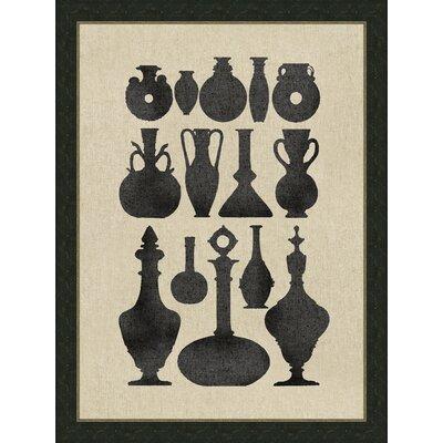 Vases on Linen ll Framed Graphic Art by Melissa Van Hise