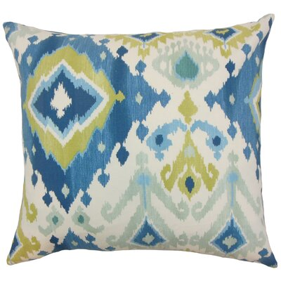 Gannet Cotton Throw Pillow by The Pillow Collection