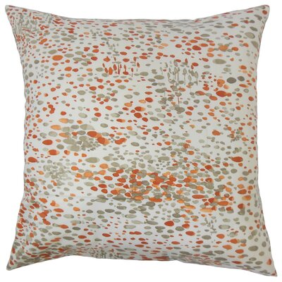 Yash Graphic Cotton Throw Pillow by The Pillow Collection