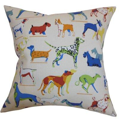 The Pillow Collection Wonan Dogs Print Throw Pillow