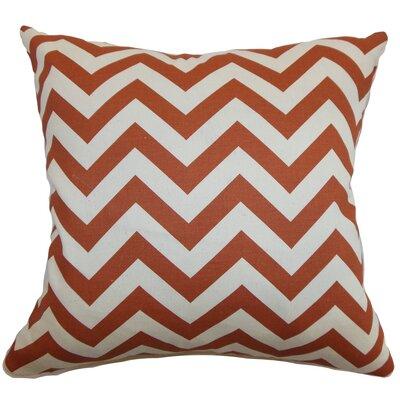 The Pillow Collection Xayabury Zig Zag Cotton Throw Pillow