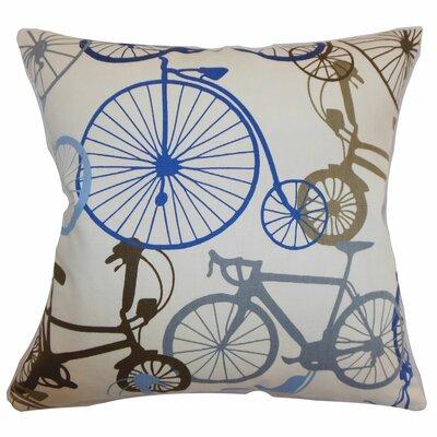 The Pillow Collection Echuca Bicycles Cotton Throw Pillow