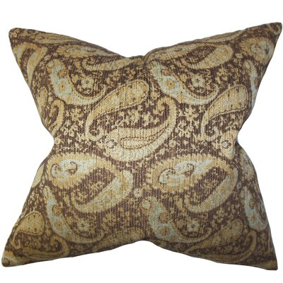 Jewel Paisley Cotton Throw Pillow by The Pillow Collection