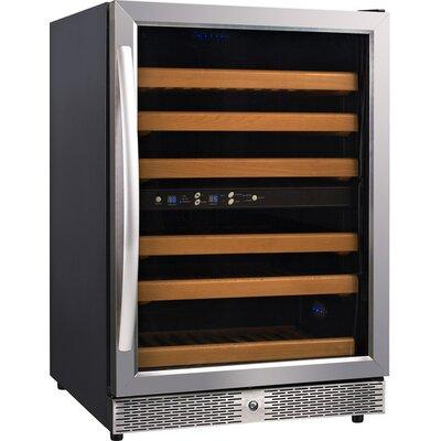 54 Bottle Dual Zone Freestanding Wine Refrigerator by Eurodib