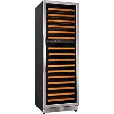 168 Bottle Dual Zone Freestanding Wine Refrigerator by Eurodib