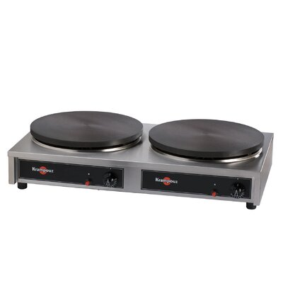 Double Gas Cast Iron Crepe Griddle by Eurodib