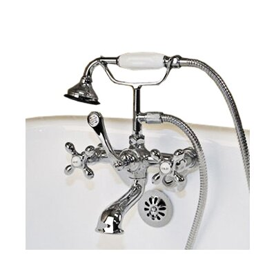 Clawfoot Wall Mount Tub Faucet with Hand Held Shower Product Photo