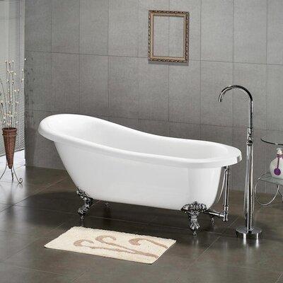 "61.75"" x 31"" Claw Foot Slipper Soaking Bathtub Product Photo"
