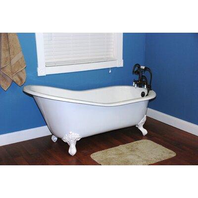 "Cambridge Plumbing 60.5"" x 30.5"" Ball and Claw Foot Slipper  Bathtub"