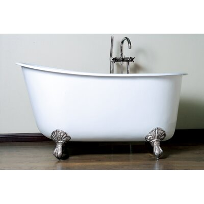 "53.5"" x 29.5"" Claw Foot Slipper  Bathtub Product Photo"