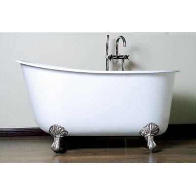 "57.5"" x 29.5"" Claw Foot Slipper  Bathtub Product Photo"