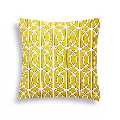 Domusworks Lattice Decorative Cotton Throw Pillow