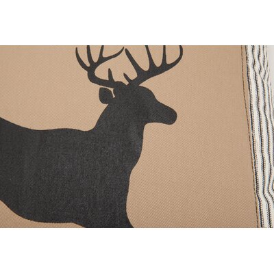Provence Home Collection Jumping Deer Down Throw Pillow