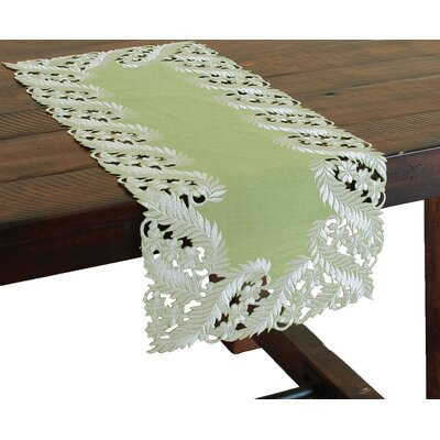 Laurel Embroidered Cutwork Mini Table Runner by Xia Home Fashions