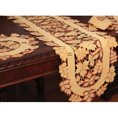 Bountiful Leaf Runner and Napkin Set by Xia Home Fashions