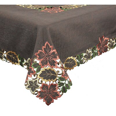 Leaf Embroidered Cutwork Tablecloth