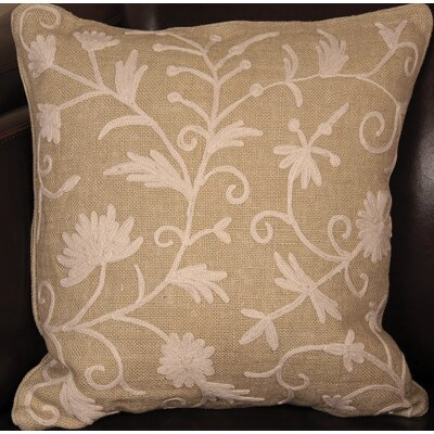 Vine Linen Throw Pillow by Manor Luxe