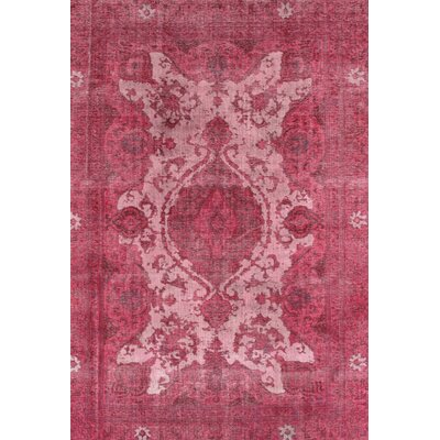 Transitional Overdyed Persian Red Area Rug by Pasargad