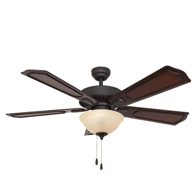 "52"" Winchester Bowl Light 5 Blade Ceiling Fan Product Photo"
